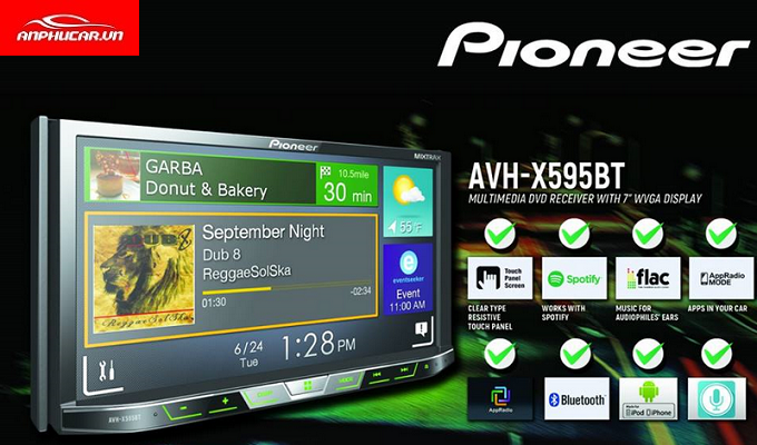 DVD Pioneer Avh - X595bt