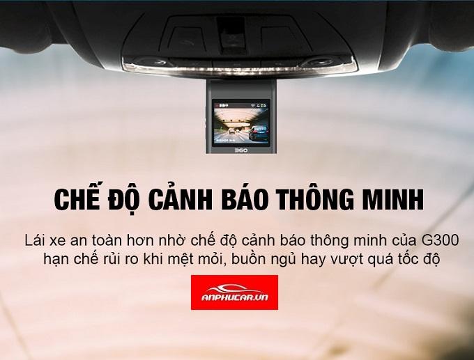 camera hanh trinh g300 canh bao