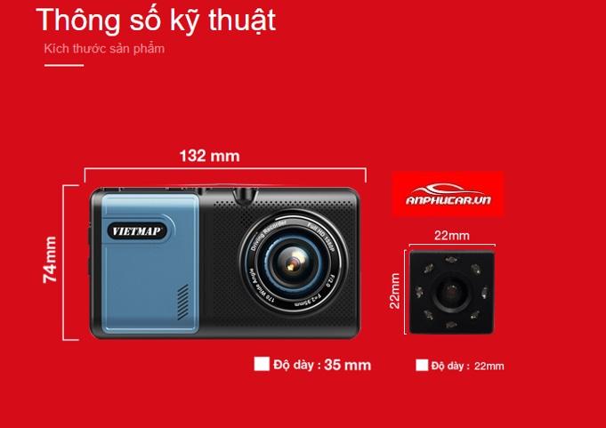 camera hanh trinh vietmap a50 kich thuoc