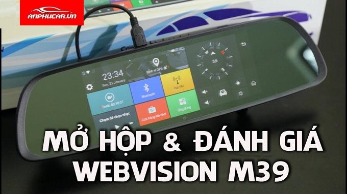 camera hanh trinh webvision m39 danh gia
