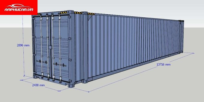 Xe Container Kich Thuoc
