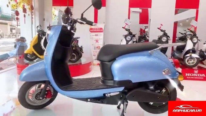 Xe May Dien Honda Mau Xanh