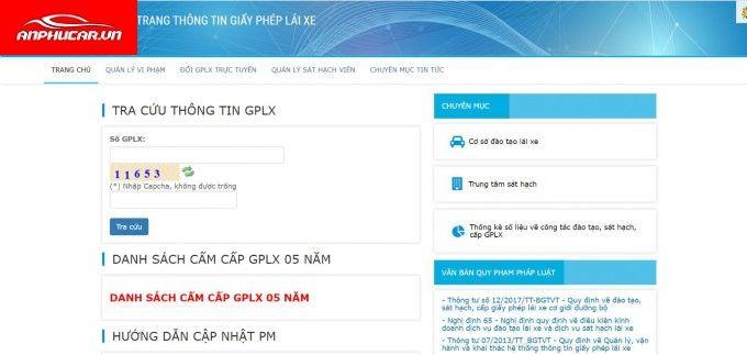 Tra Cuu Giay Phep Lai Xe Nhanh Gon
